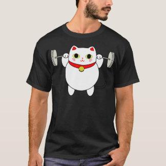 Chat d'accroupissement de Maneki Neko T-shirt