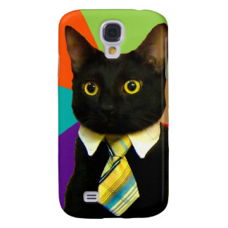 chat d'affaires - chat noir coque galaxy s4