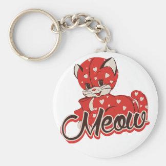 Chat d'amour de Meow Porte-clés