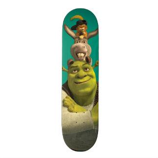 Chat dans les bottes, âne, et Shrek Skateboard 20,6 Cm