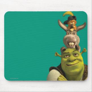 Chat dans les bottes, âne, et Shrek Tapis De Souris