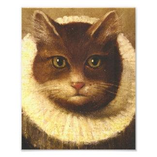Chat dans une peinture vintage d'art victorien mig impression photographique