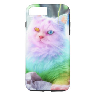 Chat d'arc-en-ciel de licorne coque iPhone 7 plus