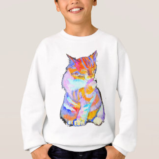 Chat d'arc-en-ciel sweatshirt