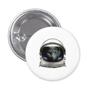 Chat d'astronaute de casque d'espace badge