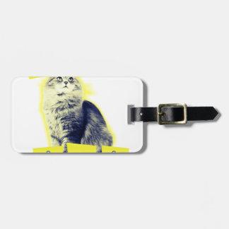 chat d'awesomeness étiquette à bagage