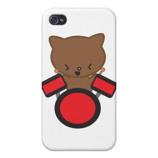Chat de batteur de Kawaii Coques iPhone 4