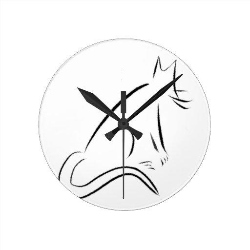 Chat de blanc de zen horloges