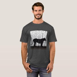 Chat de bouleau t-shirt