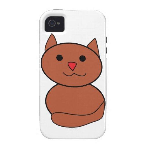 Chat de Brown Kawaii Coques Case-Mate iPhone 4