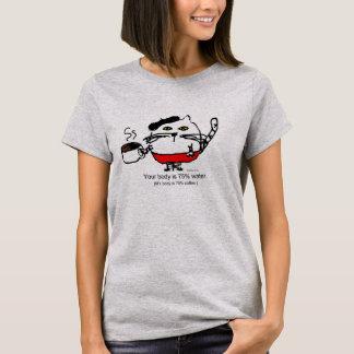 Chat de café t-shirt
