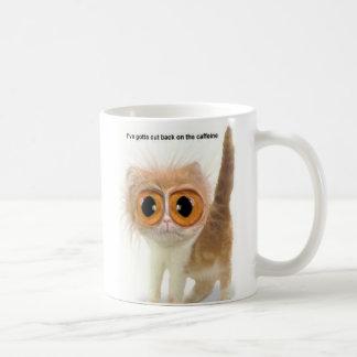 Chat de caféine mug