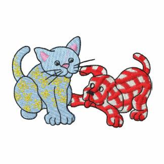 Chat de calicot et chien de guingan polo avec broderie