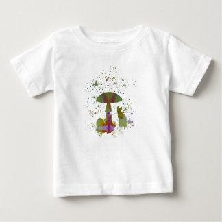 Chat de champignon t-shirt pour bébé