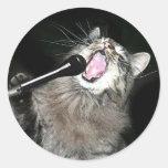 Chat de chant autocollant rond