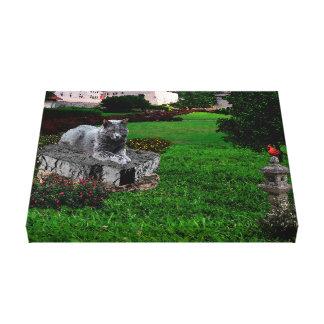 Chat de Chartreux de jardin Toiles