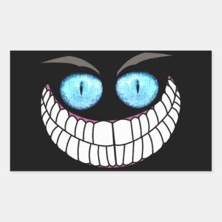 Chat de Cheshire - autocollants d yeux bleus