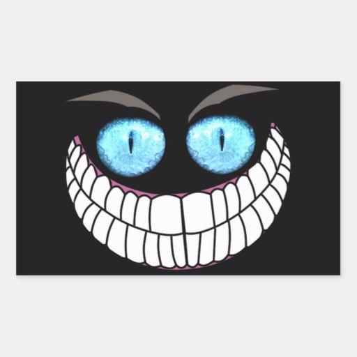 Chat de Cheshire - autocollants d'yeux bleus