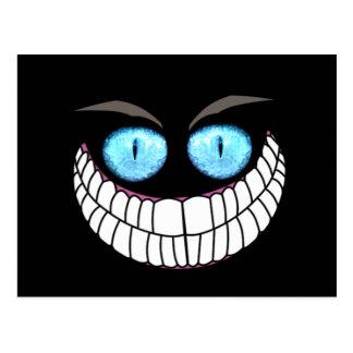 Chat de Cheshire - carte postale d'yeux bleus