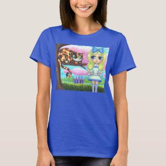 Chat de Cheshire dans un arbre Alice au pays des T-shirt