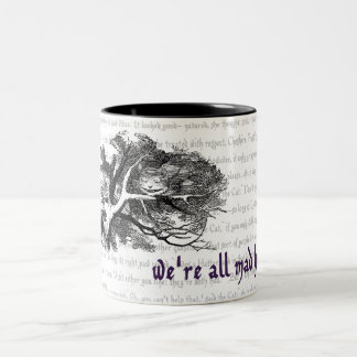 Chat de Cheshire Mug Bicolore