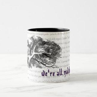 Chat de Cheshire Mug Bicolore