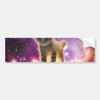 chat de clavier - chat tigré - minou autocollant de voiture
