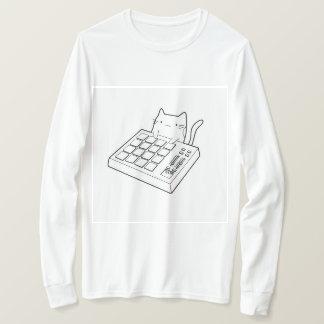 Chat de clavier - long T-shirt de base de douille