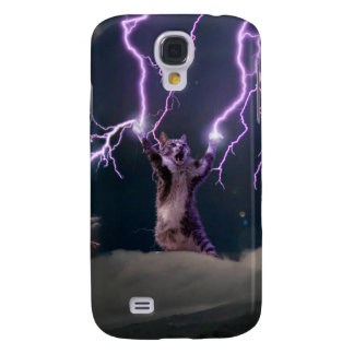 Chat de foudre--chat de Kitty-animal-félin-animal Coque Galaxy S4