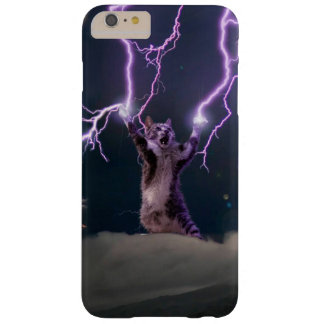 Chat de foudre--chat de Kitty-animal-félin-animal Coque iPhone 6 Plus Barely There