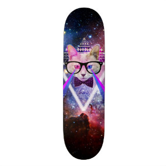 Chat de galaxie de hippie skateboard old school  21,6 cm