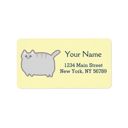 Chat de graisse de Kawaii Étiquettes D'adresse