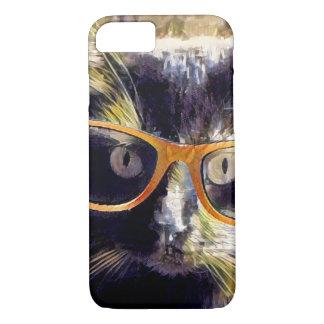 Chat de hippie, verres ambres ! coque iPhone 7