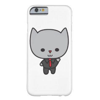 Chat de Kawaii avec la cravate Coque iPhone 6 Barely There