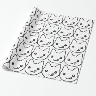 Chat de Kawaii Papier Cadeau