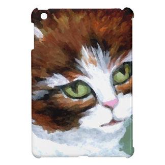 Chat de Kitty posant des cadeaux d'art de chaton Coque iPad Mini