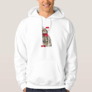 Chat de Noël - chat du père noël - chaton mignon Veste À Capuche