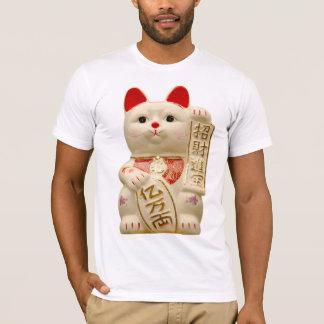 Chat de ondulation japonais de bonne chance de t-shirt