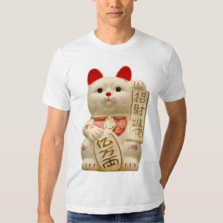 Chat de ondulation japonais de bonne chance de t-shirts