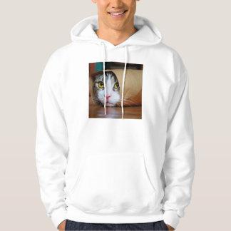 Chat de papier - chats drôles - meme de chat - veste à capuche