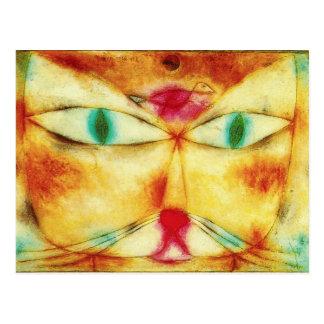 Chat de Paul Klee et carte postale d'oiseau