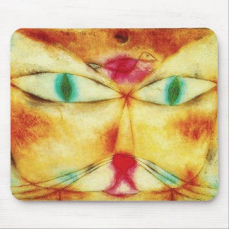Chat de Paul Klee et tapis de souris d oiseau