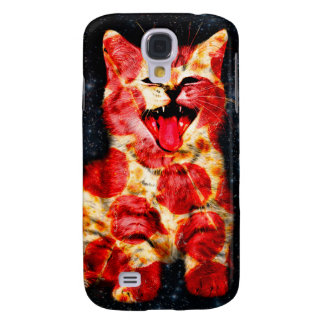 chat de pizza - minou - minou coque galaxy s4
