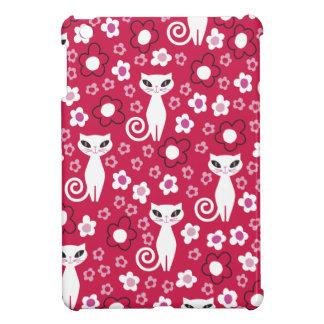 Chat de puissance de Kitty floral Étui iPad Mini