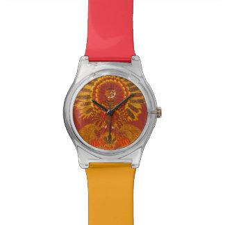 Chat de récolte de thanksgiving - montre de montres cadran