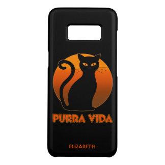 Chat de ronronnement et vie pure de Sun Purra Vida Coque Case-Mate Samsung Galaxy S8