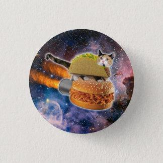 chat de taco et hamburger de fusée dans l'univers pin's