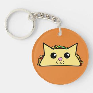 Chat de taco porte-clés