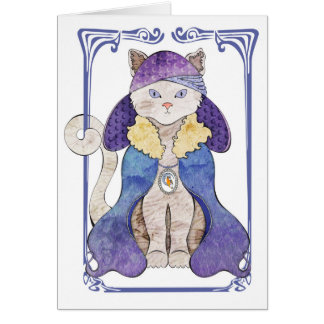 Chat de tigre carte de vœux