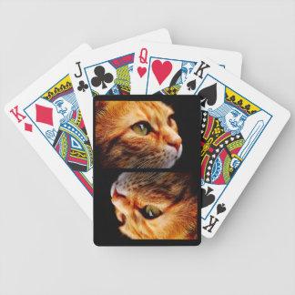Chat de tigre orange avec les yeux verts jeu de cartes